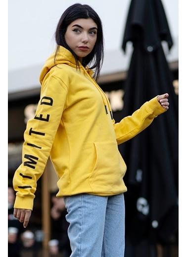 Bernotti 79 Sarı Kapüşonlu Kadın Sweatshirt Sarı